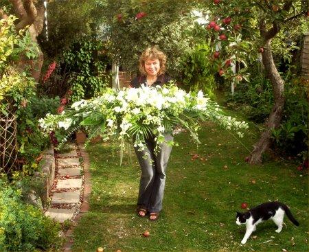 Gill in her gardens