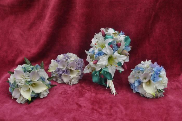 silk flowers for the wedding at Rowlands Castle