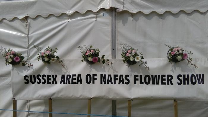 flower marquee at Sussex Country Show